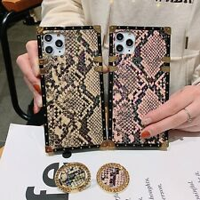 Unique Square Bumper Snake Pattern Case Cover for iPhone 11 Pro X XR XS Max 678+