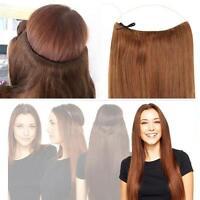 Extensiones Varilla Mono Pelo Natural Remy 100% auténtico Recto Halo Hair