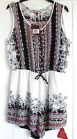 NWT Joe Browns Playsuit Paisley Floral Indian Print Side Pockets Short Suit 14