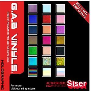 A5 Sheets - Siser Holographic HTV  PREMIUM Vinyl IRON ON/HEAT PRESS