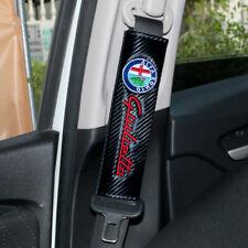 2 Copri Cintura Sicurezza Logo Fregio Alfa Romeo Giulietta Carbonio copricintura