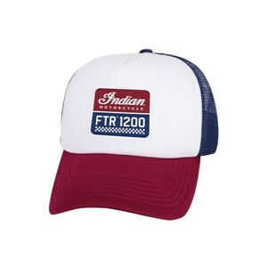 Indian Motorcycle Genuine Apparel - FTR™ 1200 Trucker Hat, Red/White/Blue