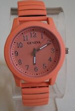 Women's Stretch Band Coral Painted Metal Finish Fashion Good for Nurse Watch