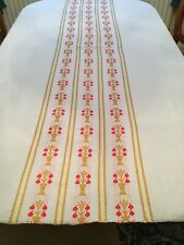 Vintage Tablecloth Linen Embroidered Very Pretty 176 X 127 CM