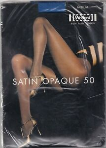 Collant WOLFORD SATIN OPAQUE 50 coloris Royal (blue). Taille M. Tights.