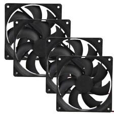 4pcs 120mm 120x25mm 12V 4Pin DC Brushless PC Computer Case Cooling Fan 1800PRM