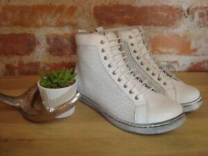 Andrea Conti Sneaker high weiß Leder Damen Gr. 36 37 38 39 40