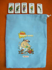 LOT ASTERIX DOMINO MANIA AUCHAN  : SAC + 5 DOMINOS – PRIMES PUBLICITAIRES
