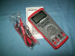 New Snap-on™ EEDM504D Autoranging Digital Multimeter DMM in Vinyl Pouch Unused