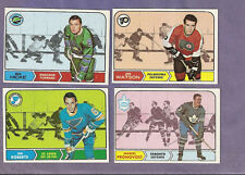 you pick any 4 card lot from 1968 Topps Hockey set