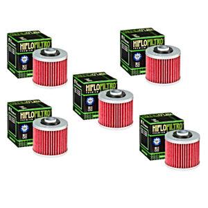 Hiflofiltro Oil Filter 5 Pack HF145 Yamaha XT250 XV250 XV500 XV535 XV700 XVS1100