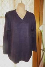 VINTAGE 80'S ~ BROWN SUGAR  ~ Purple Tunic JUMPER * Size L { 18 } *