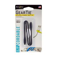 """Nite Ize Gear Tie Cordable Twist Tie 6"""" 2-Pack Black Cord Organizers Cable Tie"""