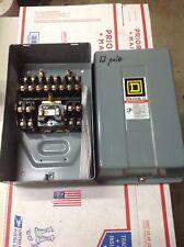 Square D 8903Lg0012V02 600V Lighting Contactor 12 Pole 12P 600Vac 30A 120V Coil