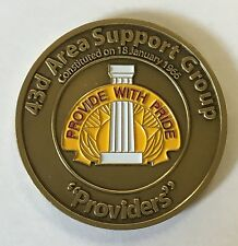 """US Army 43rd Area Support Group """"Providers"""" In Recognition Of Excellence #1076"""