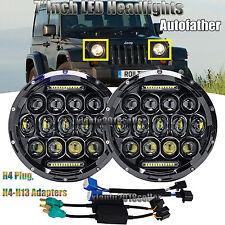 "2x 7""inch LED Headlight DRL H4 H13 Beam For Jeep Wrangler JK LJ CJ TJ Land Rover"