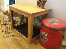 Handcrafted Solid Oak Dog Cages crates....  coffee side end table. wooden crate