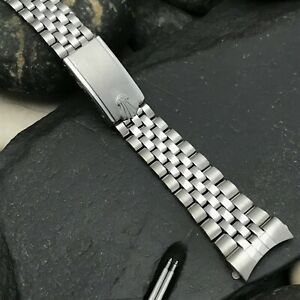 rare Jubilee 18mm Stainless Steel Flower Brand 1960s Diver Vintage Watch Band