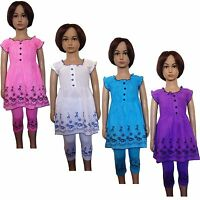 New Girls Tunic/Dress/Top&Leggings 2 Piece Set /Summer Outfit Bottom 2-10ys #74