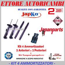 4 AMMORTIZZATORI JAPANPARTS FIAT PANDA (141) 86->2003 + KIT TAMPONI PARAPOLVERE