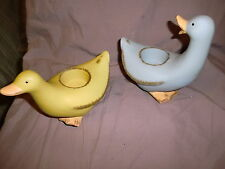 Set Of 2 PartyLite Duck Tealight Candleholders W/Original Box