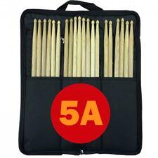 10 par 5 A Drum palos Stagg Bolsa De Nylon Negro Batidor Mazo Cepillo Vara de caso