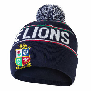 CCC british and irish lions rugby fleece lined bobble hat [navy]