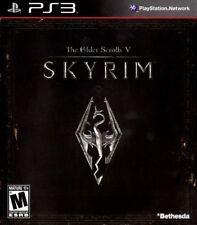 The Elder Scrolls V Skyrim PS3 Black Label Good Complete Fast Free Shipping