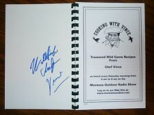 SIGNED! Cooking with Vince Wild Game Recipes VG SC Pernicano  FREE media SHIP