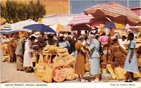 Vintage Postcard - Locals Selling At Native Market NASSAU in the Bahamas #4613