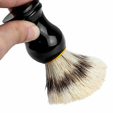 Men's Black Badger Hair Shaving Brush Mugs in Ebony Handle Clean AU SELLER