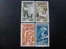 SAAR SAARLAND Mi. #122-125 scarce mint stamp set (w/ 2 plate flaws!)! CV $271.25
