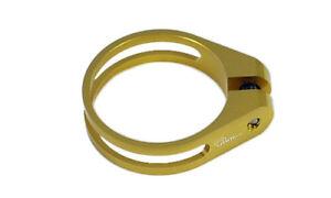 OMNI Racer WORLD's LIGHTEST Alloy Seatpost Clamp 9 grams: 34.9-35mm GOLD