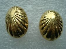Solid 18K Yellow Gold Earrings - 9+ grams Large 27mm long marked ANF -Stunning!