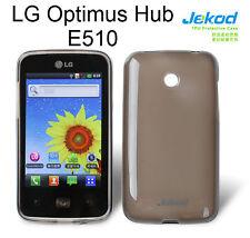 Jekod black TPU gel silicone case cover+screen protector for LG Optimus Hub E510