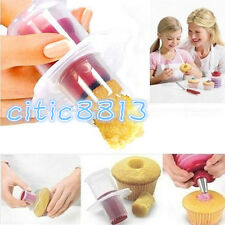 1pcs Kitchen Cupcake Muffin Cake Corer Plunger Cutter Pastry Decor Divider Model