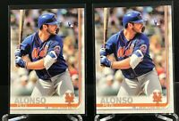 Lot of (2) 2019 Topps Photo Variation PETE ALONSO ROOKIE SP #475 Mets RC
