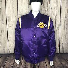 Lakers Satin Bomber Purple Starter Jacket Size Medium RARE!