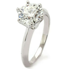 1.5CT ROUND CUT SOLITAIRE DIAMOND ENGAGEMENT RING 18K
