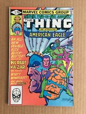 MARVEL TWO-IN-ONE ANNUAL #6 ~ Thing Ka-Zar American Eagle Wyatt Wingfoot ~ 1981