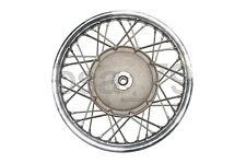 """Wheel rim 19"""" (chromed) cast brake drum with spokes and nut URAL DNEPR K-750 M72"""