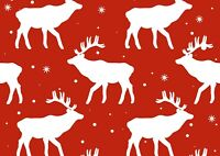 A3| Reindeer Pattern Poster Print Size A3 Animal Christmas Poster Gift #14411