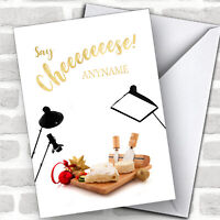 Photography Funny Cheeseboard Hobbies Customised Christmas Card