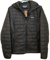 Patagonia Nano Puff Insulated Hoodie Women's Jacket Black Size Small $249 NWT!!
