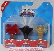 Kaos & Fire Totem & Tech Flying Helmet - Fallen 3er Pack - Skylanders Trap Team