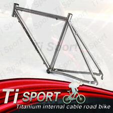 TiSport/ Titanium internal cable road bike frame