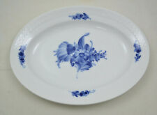 Royal Copenhagen Blaue Blume - Blue flower - Ovale Platte 25cm -