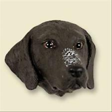 German Shorthaired Pointer Dog Head Painted Stone Resin Magnet