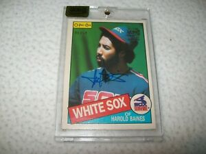 2016 TOPPS ARCHIVES 1985 O-PEE-CHEE HAROLD BAINES AUTOGRAPH #D/54 WHITE SOX