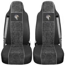 Iveco Eco Stralis ab 2013 Passform Schwarz Grau Bezüge Auto Sitzbezüge LKW